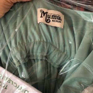 Show Me Your Mumu cold shoulder bridesmaid dress